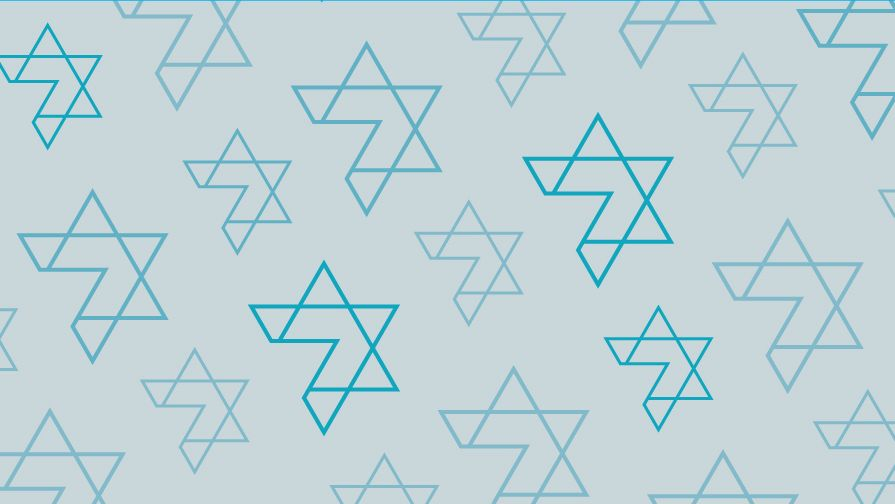 RPB custom graphic. Star of David pattern.